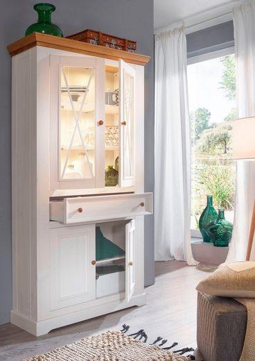 Home affaire Vitrine »Marissa« im Landhaus-Design