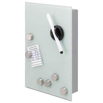 bremermann Schlüsselkasten »Schlüsselbox weiß«, magnetisch, beschreibbar, 8 Haken, 6 Magnete, 1 Marker, 1 Marker-Halter