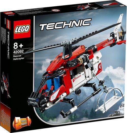 LEGO® Konstruktions-Spielset »LEGO 42092 Technic: Rettungshubschrauber«