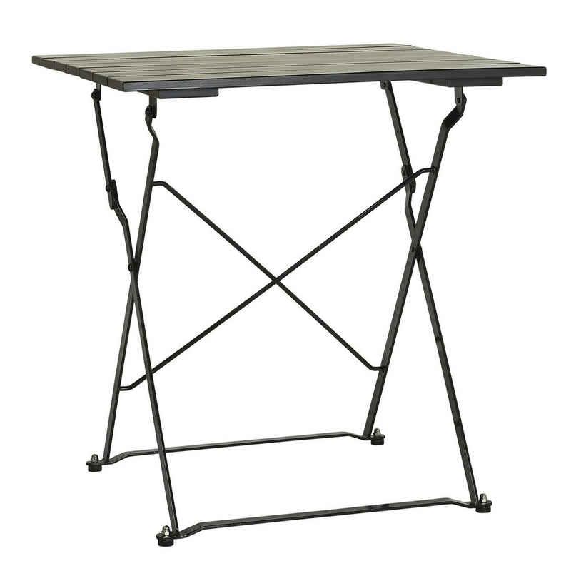 Ib Laursen Beistelltisch »Tisch Klapptisch Gartentisch Gartenmöbel Holz Metall Schwarz Ib Laursen 2154-24«