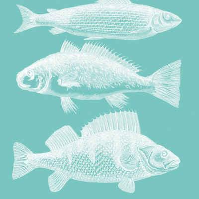 PPD Papierserviette »Riviera Fish Aqua 20 Stück 33 cm«