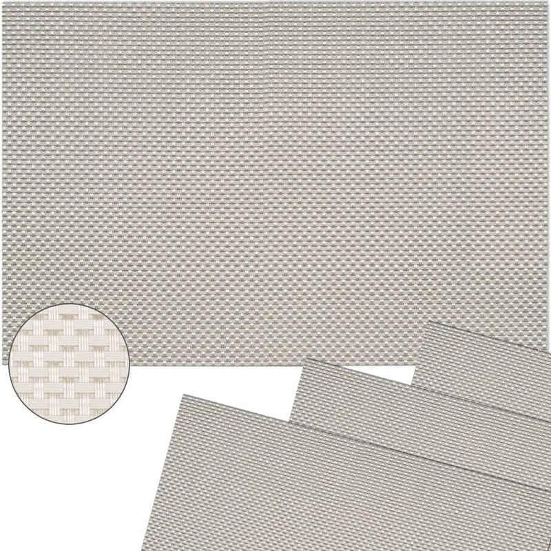Platzset, »Tischsets ELEGANCE 4 Stk. weiß Platzsets 45 cm«, matches21 HOME & HOBBY