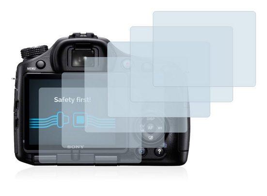 Savvies Schutzfolie »für Sony Alpha 65V (SLT-A65V)«, (6 Stück), Folie Schutzfolie klar