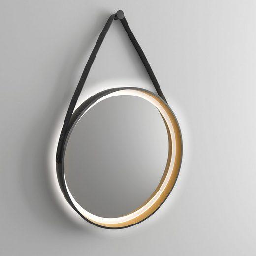 Badspiegel »Golden Summer«, Ø 55 cm, mit Beleuchtung