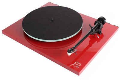 rega »Planar 2 Plattenspieler rot Carbon MM-Tonabnehmer« Plattenspieler (Riemenantrieb, nicht zutreffend, Plug-and-Play,2 Geschwindigkeiten (33 1/3 und 45 U/min),mit Abdeckhaube/Deckel,RB220 Hochleistungs-Tonarm,hochwertige Ausführung,MM-Tonabnehmer,Riemenantrieb, 24V-Synchronmotor,verbesserte Laufruhe,Glas-Plattenteller,spielfreie Lager)