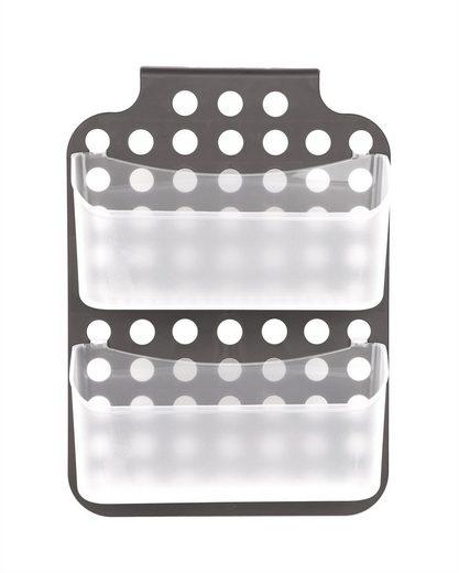 BigDean Duschregal »Duschkorb mit 2 Duschablagen zum Hängen − Kunststoff Regal für Duschkabine höhenverstellbar − Hängeregal grau«