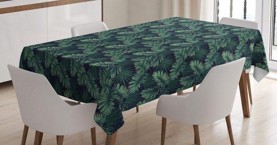 Abakuhaus Tischdecke »Personalisiert Farbfest Waschbar Für den Außen Bereich geeignet Klare Farben«, Palme Exotische Dschungel Laub Muster
