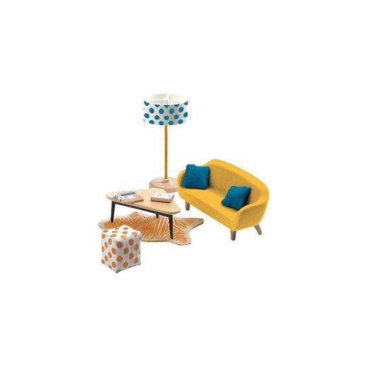 DJECO Puppenhausmöbel »Puppenhaus - Orangenes Wohnzimmer«
