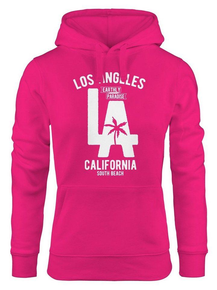 DAMEN FITNESS KAPUZENPULLOVER SWEATSHIRT HOODIE JACKE LOS ANGELES NEU SPORT NEU