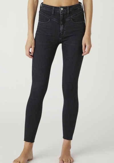 Calvin Klein Jeans Skinny-fit-Jeans »High Rise Super Skinny Ankle« mit V-Passe vorn & Calvin Klein Jeans Logop-Badge