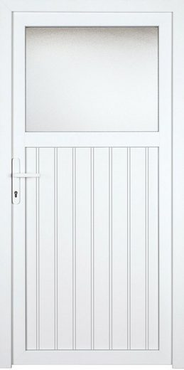 KM MEETH ZAUN GMBH Nebeneingangstür »K605P«, BxH: 98x198 cm, weiß, rechts