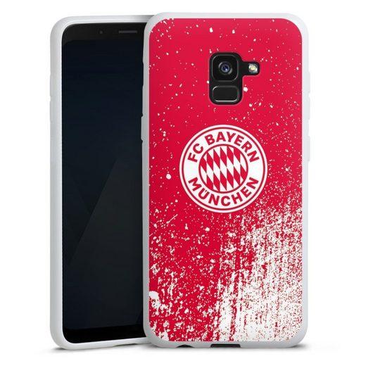 DeinDesign Handyhülle »Splatter Rot - FCB« Samsung Galaxy A8 Duos (2018), Hülle FC Bayern München Offizielles Lizenzprodukt FCB