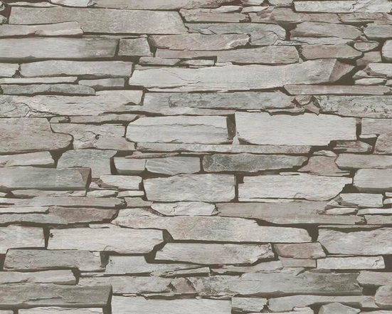 LIVINGWALLS Satintapete »Authentic Walls Naturstein Optik«