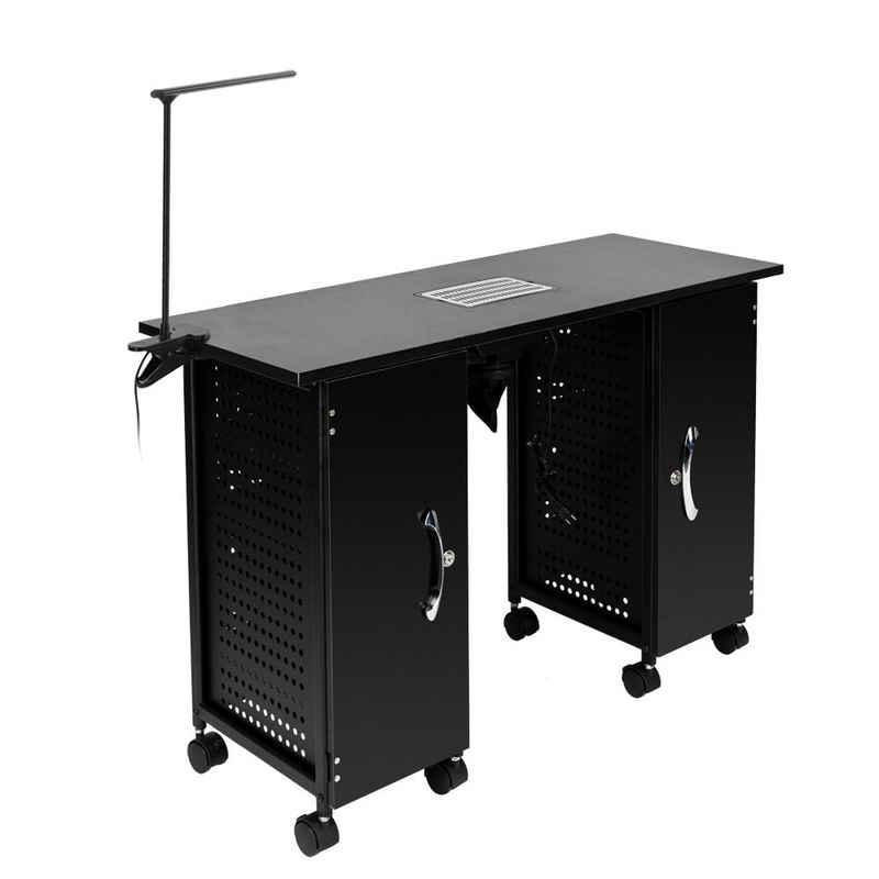 FCH Schminktisch »Maniküretisch mit Ablaufventil 10 Schublade«, Mobilesmanikürtisch Nageltisch Studiotisch Schreibtisch
