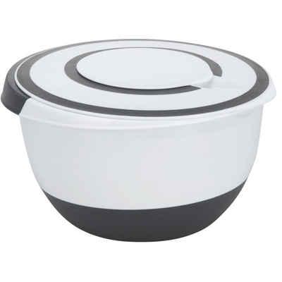BigDean Rührschüssel »mit Spritzschutz−Deckel 5 Liter Rühröffnung Stoppboden Schüssel 5L«, Kunststoff