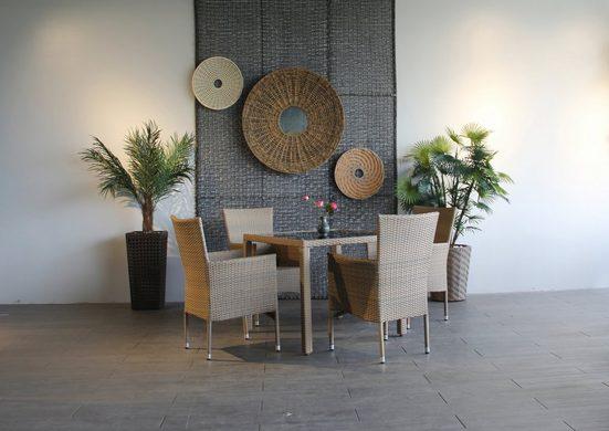 Ploß Gartenmöbelset »WINDSOR«, (5-tlg), vier Stühle und ein Tisch