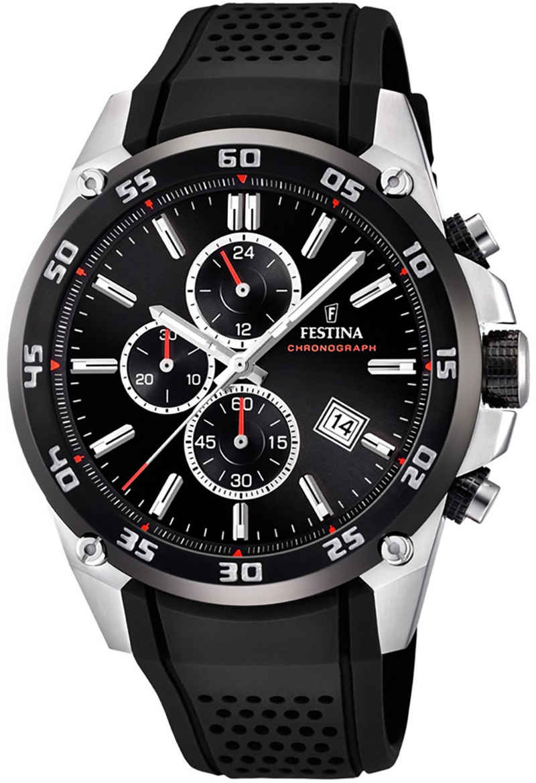 Festina Quarzuhr »UF20330/5 Festina Herren Uhr F20330/5 PUR«, (Analoguhr), Herren Armbanduhr rund, PURarmband schwarz