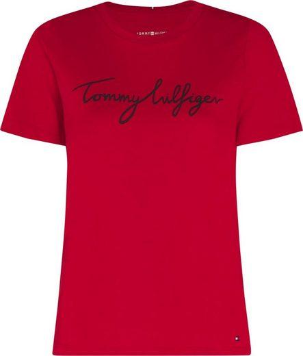 Tommy Hilfiger Rundhalsshirt »CREW NECK GRAPHIC TEE« mit Tommy Hilfiger Signature Logo-Print