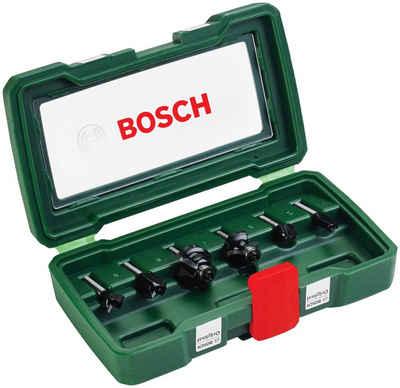 BOSCH Fräsbohrer, (Set, 6-tlg), HM-Fräser 6 mm Schaft