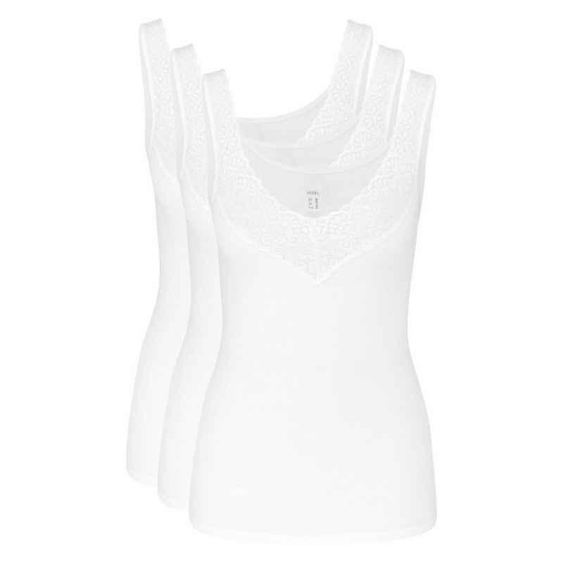Speidel Unterhemd »3er-Pack Natalie« (3 Stück), Achselhemd - Dekorative Spitze am Ausschnitt und an den Trägern eingesetzt, Feinripp-Qualität, Keine störenden Seitennähte