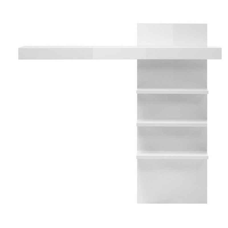 Lomadox Wandregal »COGO-61«, Aufsatzregal für Lowboard in weiß Hochglanz BxHxT ca. 137x127x20cm