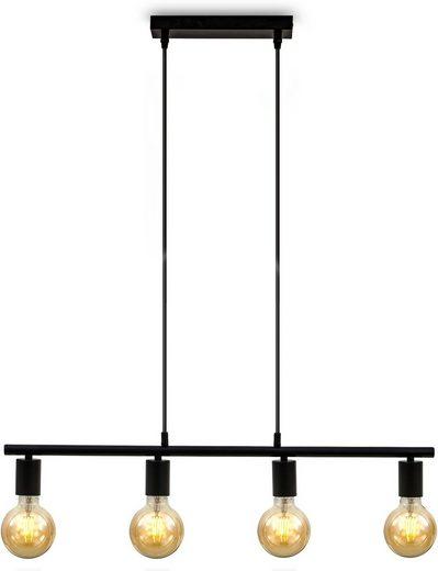 B.K.Licht LED Pendelleuchte »Nordic«, Hängeleuchte, LED Hängelampe Retro Industrie Decken-Pendel Hängelampe matt schwarz E27 Spot