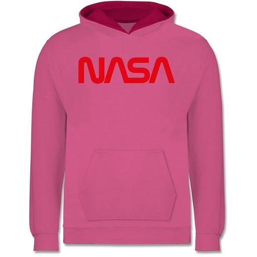 Shirtracer Hoodie »Nasa Worm Motiv - Nerds & Geeks - Kinder Hoodie Kontrast - Pullover & Hoodies« nasa worm hoodie kinder