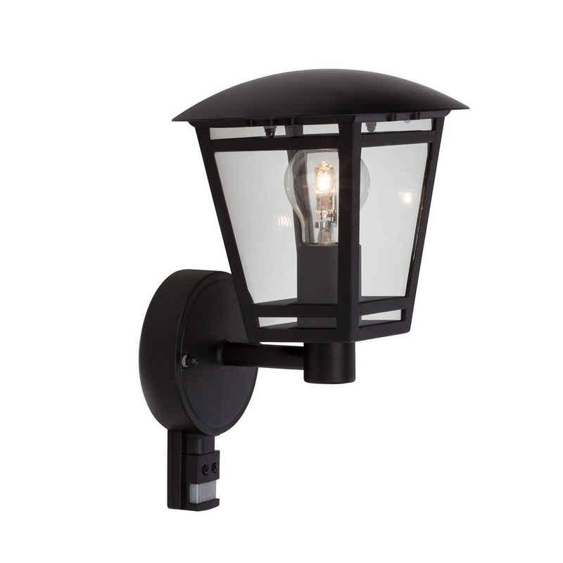 Brilliant Leuchten Außen-Wandleuchte »Riley«, Außenwandlampe stehend Bewegungsmelder schwarz