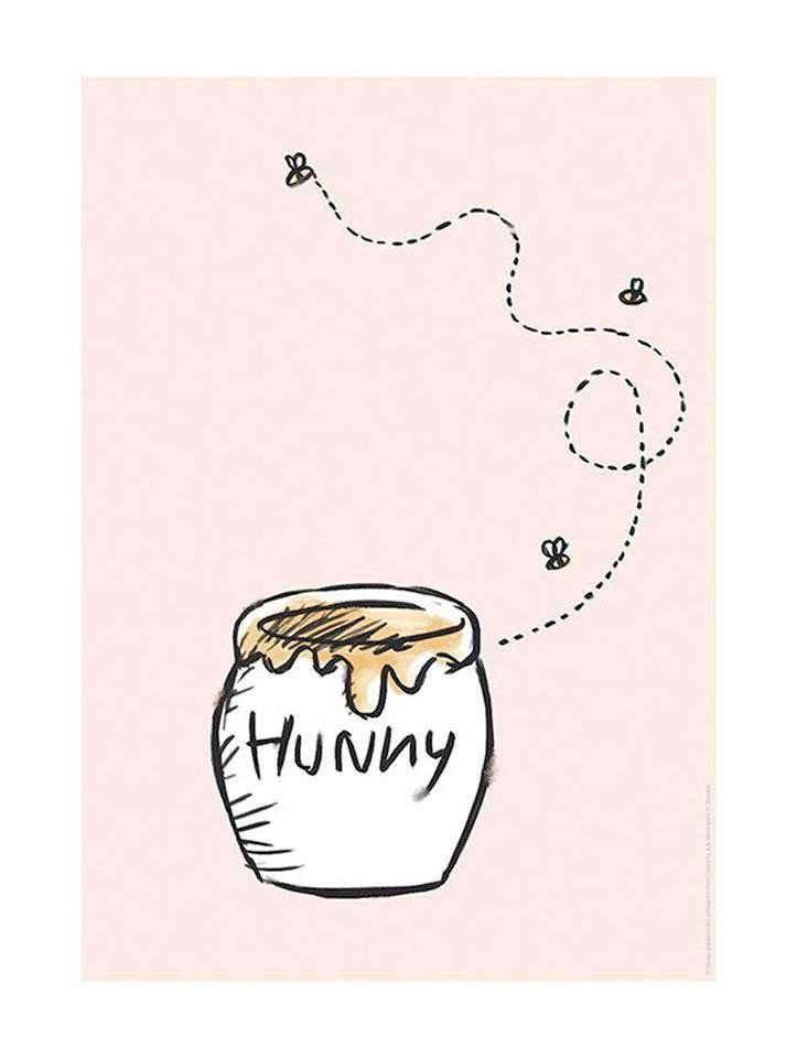 Komar Poster »Winnie Pooh Hunny Pot«, Disney, Höhe: 50cm