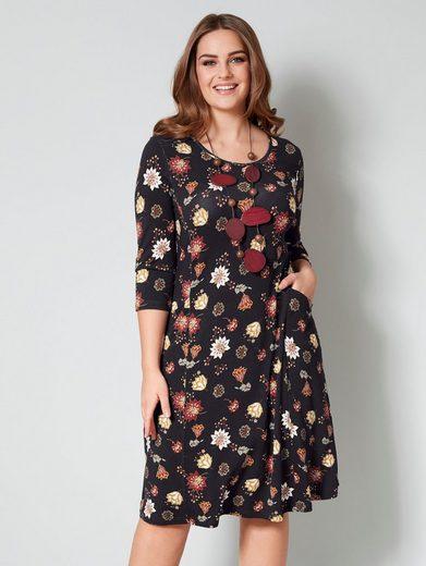 Janet & Joyce by HAPPYsize Jersey-Kleid mit floralem Druck