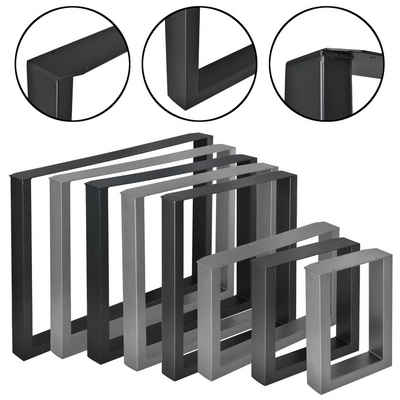 en.casa Untergestell, 2x Tischgestell im Set für DIY Esstisch, Beistelltisch, Couchtisch, Bank, uvm. - in verschiedenen Farben und Größen