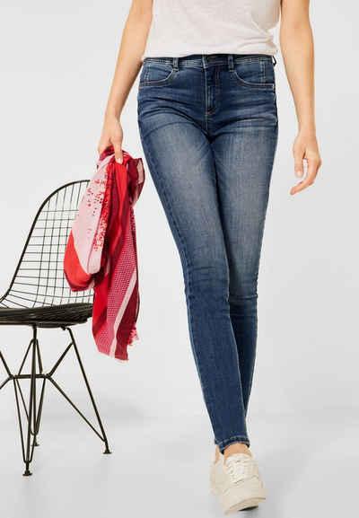 STREET ONE Slim-fit-Jeans High Waist