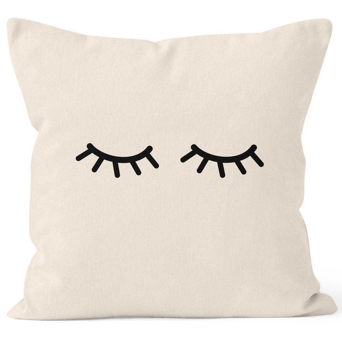 Kissen Schlafende Wimpern | Sleepy Eyes Augen Müde Mascara
