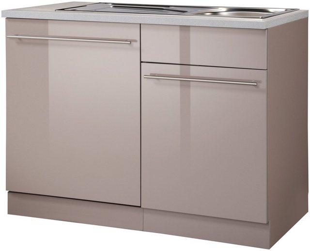 Küchenschränke - wiho Küchen Spülenschrank »Chicago« 110 cm breit, inkl. Tür Sockel für Geschirrspüler  - Onlineshop OTTO