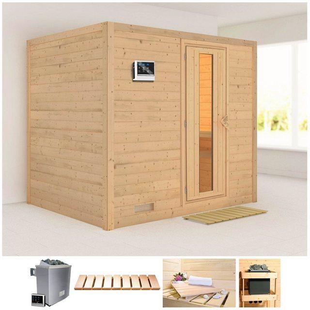 Saunen und Zubehör - KARIBU Sauna »Sonara«, 231x196x198 cm, 9 kW Ofen mit ext. Steuerung  - Onlineshop OTTO