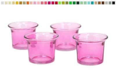 Creativery Teelichthalter, Teelichtgläser geschwungen 63x45 mm, Set 4 Stück
