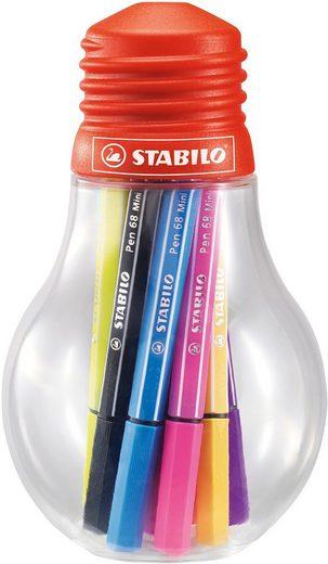 STABILO Dekorierstift »Filzstifte Pen 68 mini Colorful Ideas, 12 Farben«