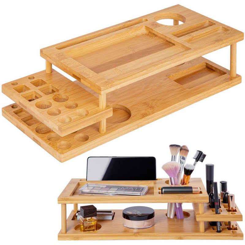 ONVAYA Make-Up Organizer »Organizer für Make-up & Schminke, Kosmetik Organizer aus Bambus-Holz, Aufbewahrungsbox fürs Badezimmer, Ordnungsbox für Bad, Schminktisch oder Schreibtisch, multifunktional«