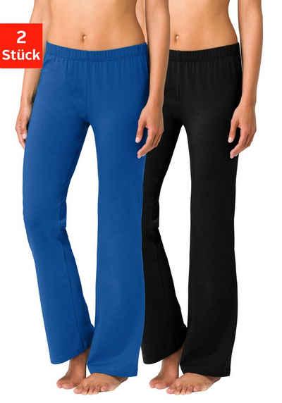 Vivance Jazzpants (2er-Pack) mit leicht ausgestelltem Bein