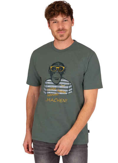 Trigema T-Shirt mit großem Affen-Aufdruck