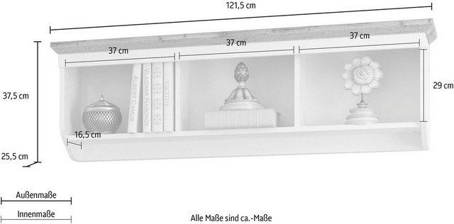 Regale - Home affaire Wandregal »Teverton«, Wandregal Teverton , Breite 121,5 cm  - Onlineshop OTTO