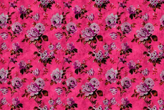 living walls Fototapete »Walls by Patel Wild Roses 3«, glatt, (4 St)