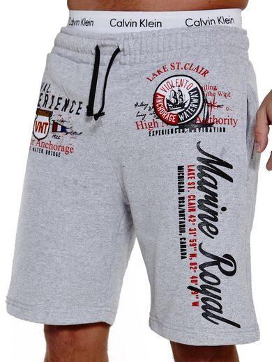 OneRedox Shorts »SH-3728« (Kurze Hose Bermudas Sweatpants, 1-tlg., im modischem Design) Fitness Freizeit Casual