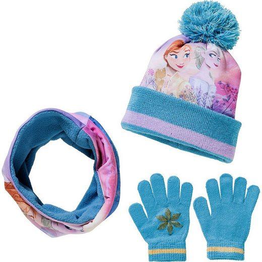 Disney Frozen Schirmmütze »Disney Die Eiskönigin Set Mütze + Loopschal +«