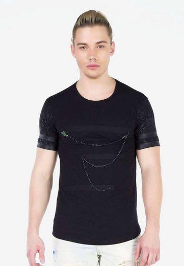 Cipo & Baxx T-Shirt mit coolem Ketten-Detail