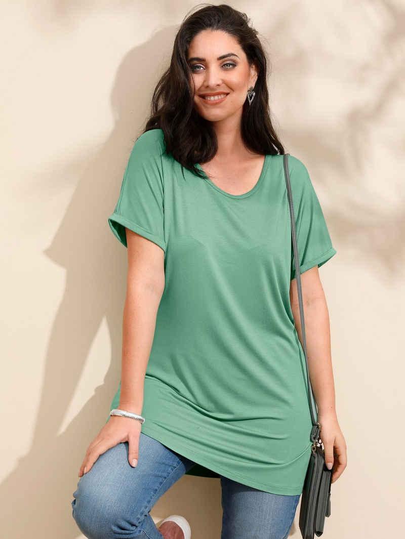 MIAMODA Longshirt mit überschnittener Schulter