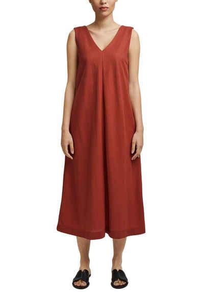 Esprit Collection Jerseykleid mit V-Ausschnitt vorne und hinten