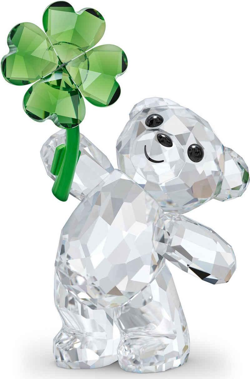 Swarovski Dekofigur »Kris Bär Glücksbringer, 5557537« (1 Stück), Swarovski® Kristall mit schwarzem Emaille