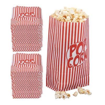 relaxdays Snackschale »288 x Popcorntüten rot-weiß«, Papier