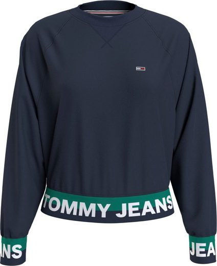 TOMMY JEANS Sweatshirt »TJW BRANDED HEM SWEATSHIRT« mit Tommy Jeans Logo-Bündchen im Colorblocking
